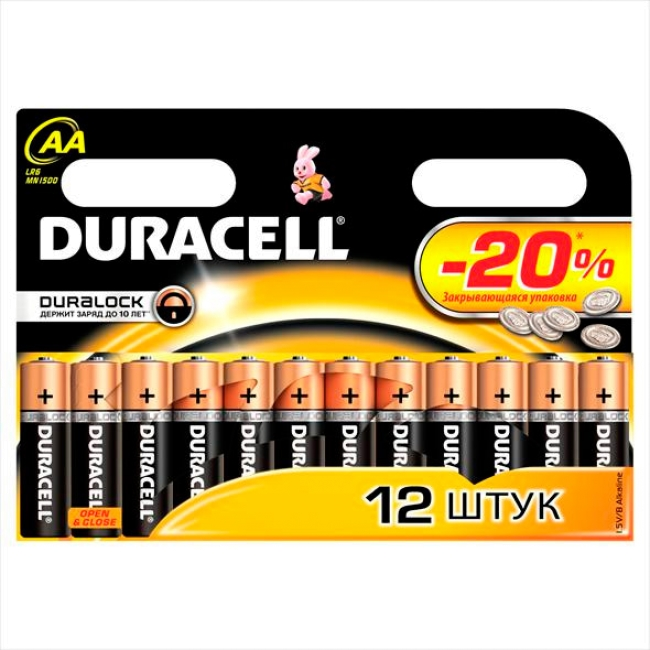 LR6/AA Duracell Basic 12 шт.