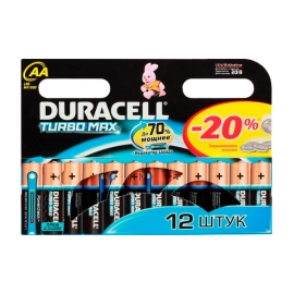 LR6/AA Duracell Turbo Max 12 шт.